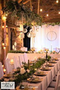wiszące dekoracje ślubne