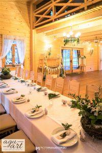 dekoracja sali weselnej i candybar