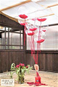 Balony z helem jako tło do zdjęć