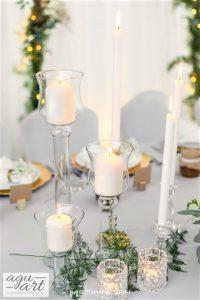 dekoracja świecami