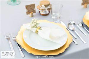 Nakrycie dla gościa weselnego