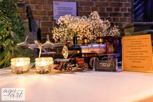 motyw podróży w dekoracji ślubnej