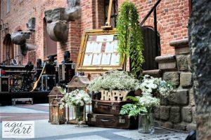 tablica z usadzeniem gości weselnych