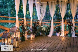 dekoracje weselne na zewnątrz
