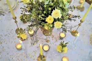 Cytrynowe bukiety weselne