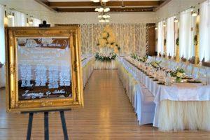 Dekoracja slubna sali weselnej