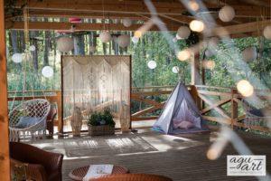 dekoracja patio w Lesnej Karczmie Faltomu